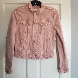 Blush pink h&m jean jacket!